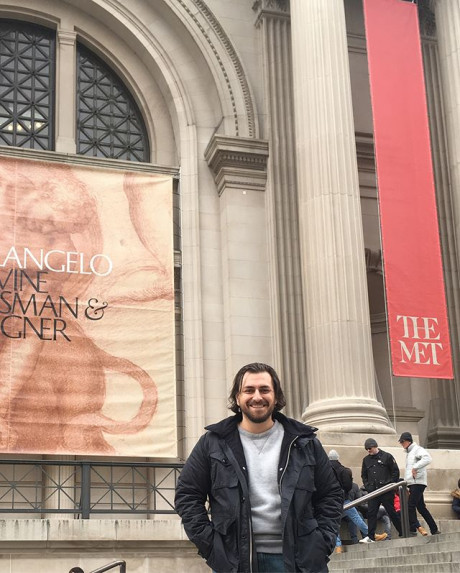 Joshua Jacobo at the 2018 Michelangelo Exhibit at the Metropolitan Museum