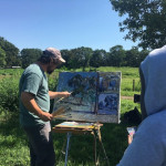 Ben Fenske teaching landscape painting in 2017.